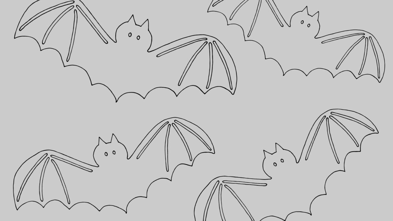 šablona netopýra