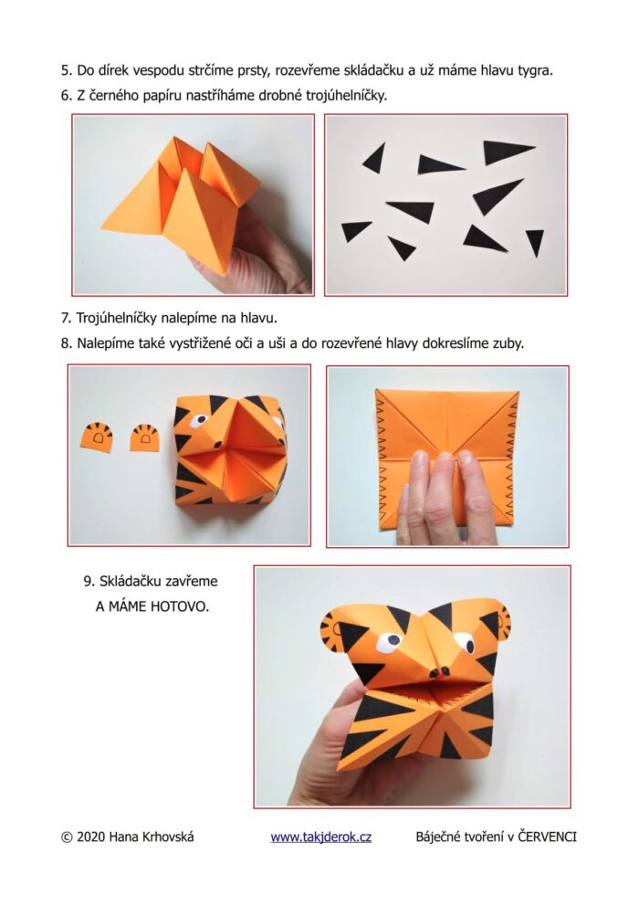Origamy tygr